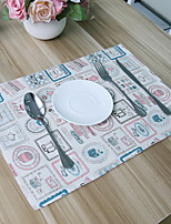 Korean Small Kettle Design Cotton And Linen Table Placemat 32*45cm