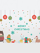 Animales Navidad De moda Pegatinas de pared Calcomanías de Aviones para Pared Calcomanías Decorativas de Pared MaterialDecoración