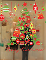 Window Film Window Decals Style Christmas Tree Gift Wind Chimes PVC Window Film