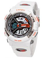Homens Relógio Esportivo Relógio de Moda Digital Impermeável Borracha Banda Preta Branco Azul