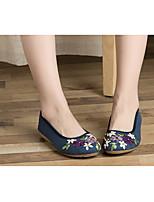 Damen Loafers & Slip-Ons Komfort PU Frühling Normal Komfort Weiß Blau Flach