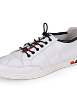 Men's Sneakers Light Soles Spring Fall Leather Cowhide Casual Office & Career White Black Flat