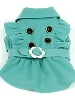 Dog Coat Dog Clothes Casual/Daily Princess Green Orange