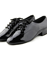 Men's Latin PU Heels Practice Black