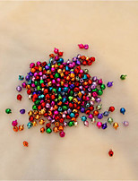 8MM 100 pcs/lot Mix Colors Loose Beads Small Jingle Bells The Wedding And Christmas Decoration Gift