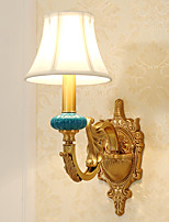 AC110-240 E12/E14 Tiffany Simple Country Traditional/Classic Brass Feature for Mini Style Bulb Included,Uplight Wall Sconces Wall Light