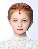 Girl's Headband Rhinestone Decorative Gemstone Pendant Hair Accessory
