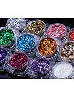 12PCS  Nail Art Thin Article Glitter Nails Sequins