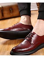 Для мужчин Туфли на шнуровке Удобная обувь Тюль Весна Повседневные Удобная обувь Черный Вино На плоской подошве