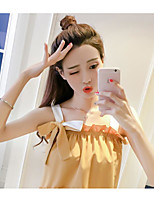 Women's Casual/Daily Simple Summer Blouse,Solid Strap Long Sleeve Others