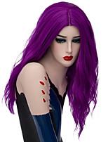 Естественные парики синтетический Без шапочки-основы парики Средний Оранжевый Бежевый Фиолетовый Волосы