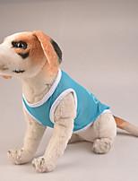 Собака Толстовки Одежда для собак На каждый день Горох Желтый Красный Розовый Темно-синий