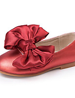 Girls' Flats Comfort PU Spring Fall Casual Walking Comfort Magic Tape Low Heel Ruby Purple Black Flat