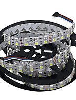 HKV® 1 Pcs 5M Double Row 5050 SMD 600LED Flexible LED Strip Light lamp No-Waterproof Home Bar Lorry Decor-RGBW RGB White DC 12V