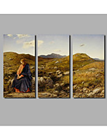 2017 Fashion New Painting on Canvas Jesus Landscape Posters For Livingroom Background 3Panels Unframed