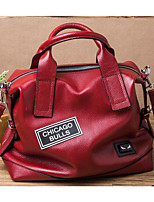 Women Shoulder Bag Cowhide All Seasons Casual Outdoor Square Zipper Gray Red Black