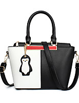 IMBETTUY Women's Fashion Splicing PU Leather Messenger Shoulder Bags/Handbags Tote