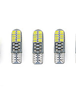 3w branco dc12v t10 smd3014 24led canbus lâmpada decorativa lâmpada de leitura placa de luz luz porta lâmpada 5pcs