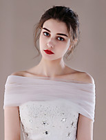 Women's Wrap Capelets Tulle Wedding Party/ Evening Pleated