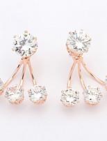 Stud Earrings Women's Girls 'Rhinestone Euramerican Fashion Elegant Three Jaw Party Daily Stud Earrings Movie Jewelry Gift