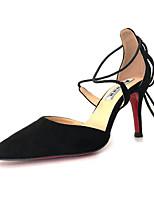 Mujer Zapatos Cuero Nobuck Primavera Verano Confort Tacones Para Casual Negro Rojo Borgoña