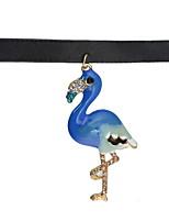 Femme Collier court /Ras-du-cou Pendentif de collier Forme d'Animal AlliageBasique Original Pendant Animal Naturel Amitié British