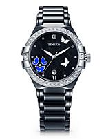 Жен. Модные часы Кварцевый Керамика Группа Черный