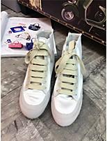 Для женщин Мокасины и Свитер Удобная обувь Полиуретан Весна Повседневные Удобная обувь Белый Черный Светло-коричневый Менее 2,5 см