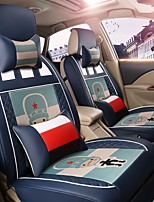 Car Seat Cushion Car Seat Cover Family Car Leather Seat Cover Four General--Argentina Blue