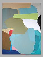 Pintada a mano Abstracto Vertical,Artístico Un Panel Lienzos Pintura al óleo pintada a colgar For Decoración hogareña
