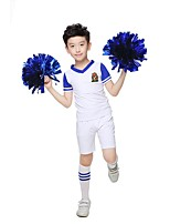 Cheerleader Costumes Outfits Boys' Performance Polyester Appliques 2 Pieces Short Sleeve High Tops Shorts