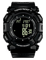 Men's Sport Watch Fashion Watch Digital Altimeter Water Resistant / Water Proof Pedometer Stopwatch Rubber Band Black