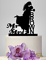 Personalized Acrylic Love Story Wedding Cake Topper