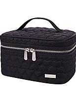Women Cosmetic Bag Cotton All Seasons Casual Baguette Zipper Red Black