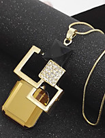 Women's Pendant Necklaces Chrome Basic Jewelry For Casual Stage Homecoming Formal Evening Valentine Vacation