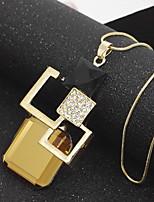 Collier pendentif pour femme bijoux en chrome basiques