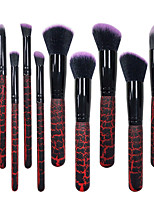 10 Contour Brush Makeup Brush Set Blush Brush Powder Brush Foundation Brush Other Brush Synthetic Hair All in One Aluminum ResinEye Eyes