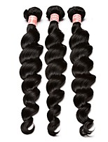 Natural Color Hair Weaves Malaysian Texture Loose Wave 12 Months Three-piece Suit hair weaves