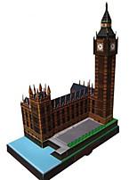 Пазлы Набор для творчества 3D пазлы Строительные блоки Игрушки своими руками Знаменитое здание Часы Архитектура