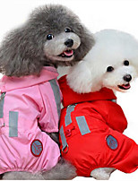 Dog Rain Coat Dog Clothes Casual/Daily Solid Red Blushing Pink