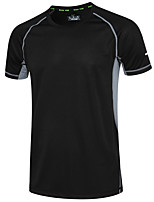 Men's Short Sleeve Running Sweatshirt Moisture Wicking Summer Sports Wear Running/Jogging