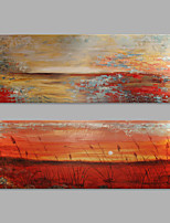 IARTS® Hand Painted Modern Abstract Sunset Reed Marshes Oil Painting On Canvas with Stretched Frame Wall Art For Home Decoration Ready To Hang