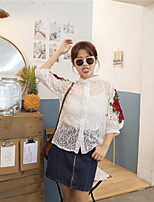 Women's Going out Soak Off Summer Blouse Skirt Suits,Solid Round Neck Short Sleeve