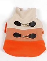 Собака Толстовка Одежда для собак На каждый день Английский Оранжевый Синий