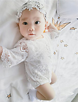 Girls' Fashion And Comfortable Lace Hollow-Out Bat Sleeve Conjoined Package Fart Crawling Clothes