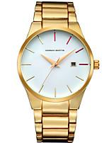 Жен. Муж. Нарядные часы Модные часы Кварцевый Календарь Нержавеющая сталь Группа С подвесками Повседневная Черный Серебристый металл