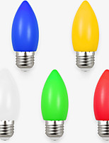 1.5W LED Candle Lights 8 SMD 2835 70-100 lm White Red Blue Yellow Green Decorative AC220 V 5 pcs