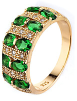Ring Women's Euramerican Luxury 7 Colors Geometric Rhinestone Zircon Ring Daily Party Gift Movie Jewelry