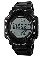 Men's Sport Watch Digital Watch Digital Calendar Water Resistant / Water Proof Pedometer PU Band Cool Black