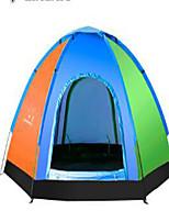3-4 personnes Sac de Voyage Unique Tente pliable Tente de camping Corne de bœuf Polycarbonate Garder au chaud-Camping / Randonnée-